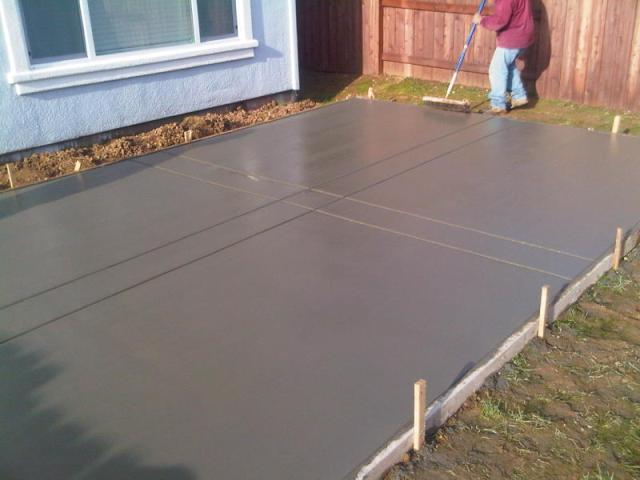 Painting Concrete Patio Slab ...